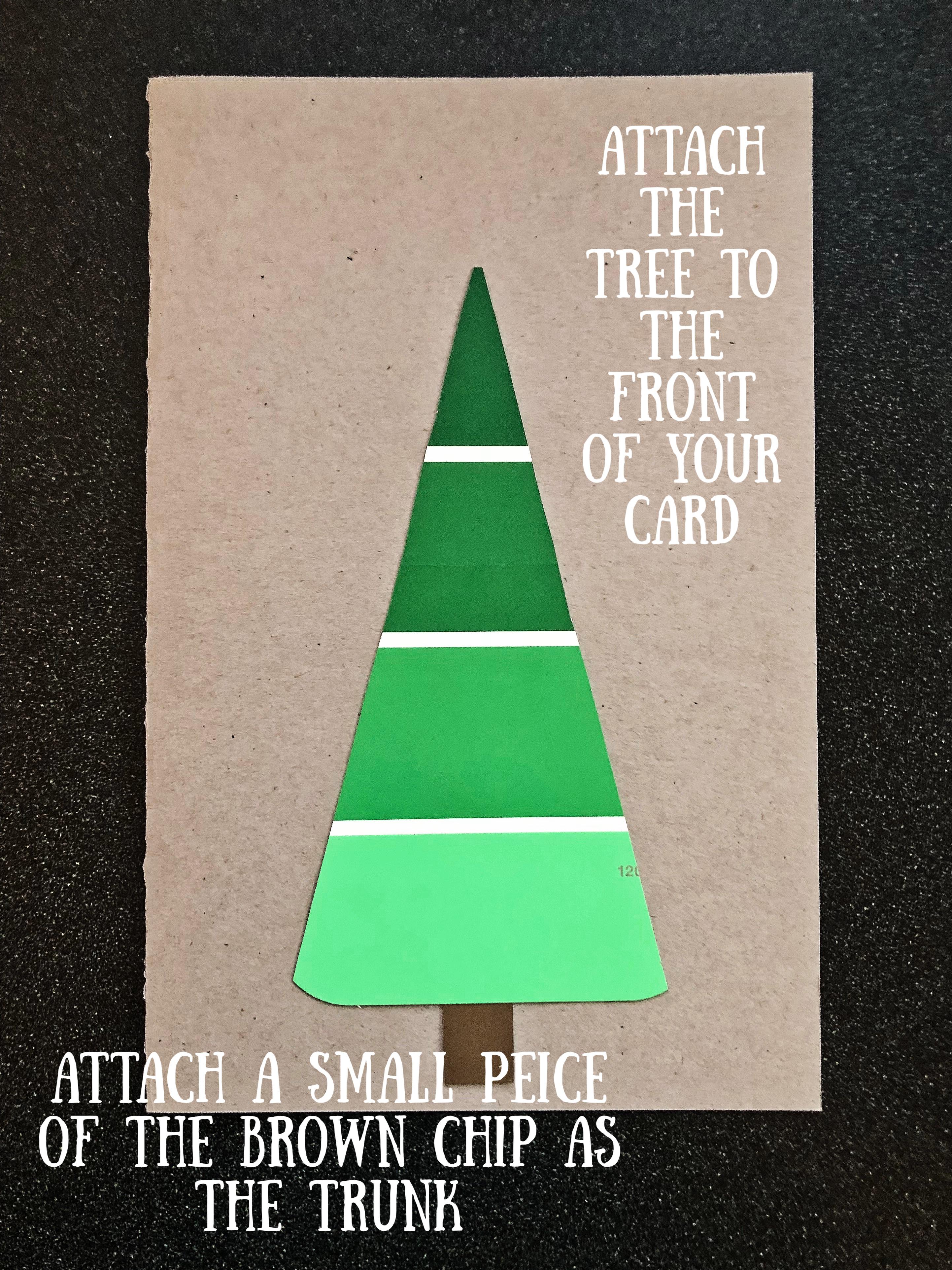 Tree on card